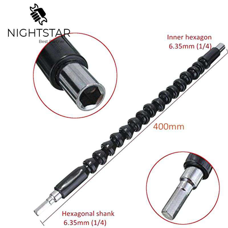 400mm Flexible Shaft Bit  Magnetic Screwdriver Extension Drill Bit Holder Connect Link For Electronic Drill 1/4