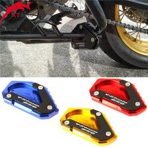 Image 1 - SUZUKI için V STROM 650/XT VSTROM 650 DL650 2004 2020 motosiklet CNC Kickstand ayak yan ayak uzatma Pad destek plakası