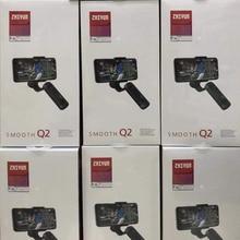 Zhiyun suave Q2 3 eje de Smartphone del cardán estabilizador para iPhone XS XR 8X8 8 7P 7 Samsung S9 S8 S7 del liso 4