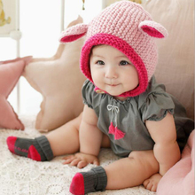 New Baby Hat  Winter Keep warm Animal Children Hat Knitted child Cute Cap For Girls Boys Casual Fashion Girls Hat Baby Beanies