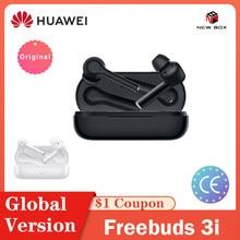 Globale Version HUAWEI FreeBuds 3i 3 ich TWS Bluetooth Drahtlose Kopfhörer Ultimative Geräuschunterdrückung 3-mic System ANC Für P40 Lite