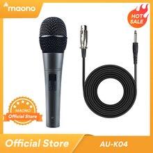 MAONO K04 מקצועי דינמי מיקרופון Cardioid ווקאלי Wired מיקרופון עם XLR כבל תקע ולשחק Microfone לשלב קריוקי KTV