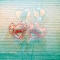 Новинка, 18 дюймов, воздушный шар из прозрачной алюминиевой пленки в форме сердца, волнистый шар в форме сердца, украшение для свадьвечерние ...