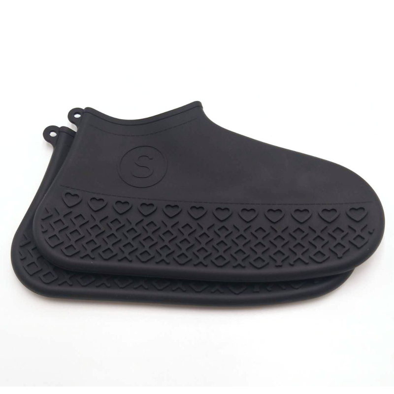 2pcs/set Thickening Rain Shoes Covers Wear Resistant Waterproof Silicone Shoe Covers Non-slip Anti-dirty Shoes Organizers