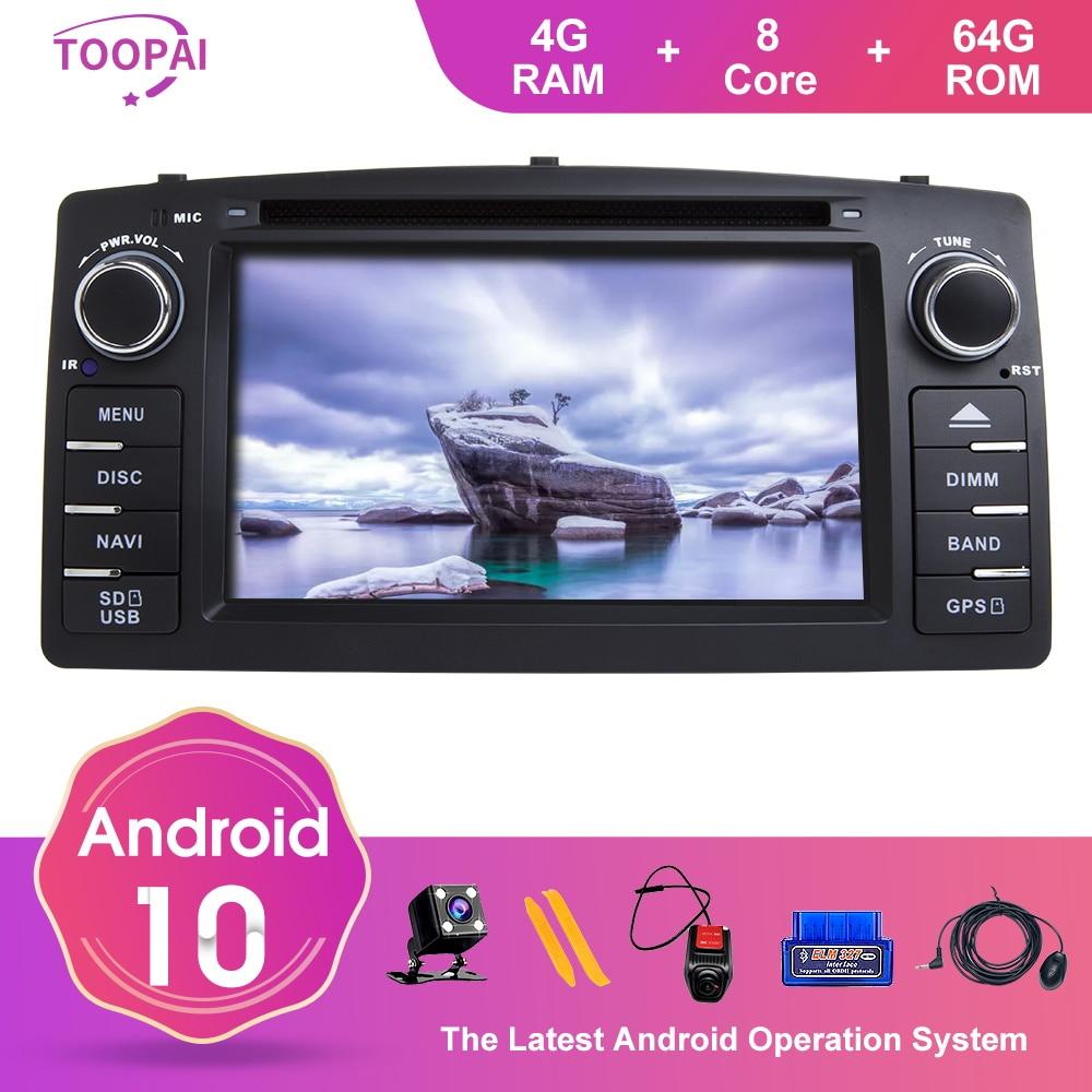 TOOPAI Android 10 For Toyota Corolla E120 Altis E120 2000-2006 BYD F3 Car Multimedia Navigation GPS Media Player Auto Radio