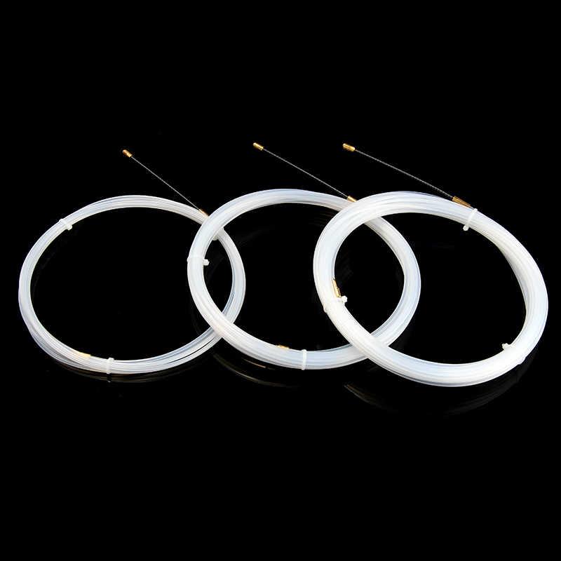 1PC 5/10/15M 3mm extracteur de câble blanc dispositif de guidage Nylon câble électrique poussoirs conduit serpent rongeur poisson ruban fil