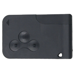 3-кнопочный пульт дистанционного управления 433 МГц PCF7947 чип смарт-карта брелок для Renault Megane Scenic