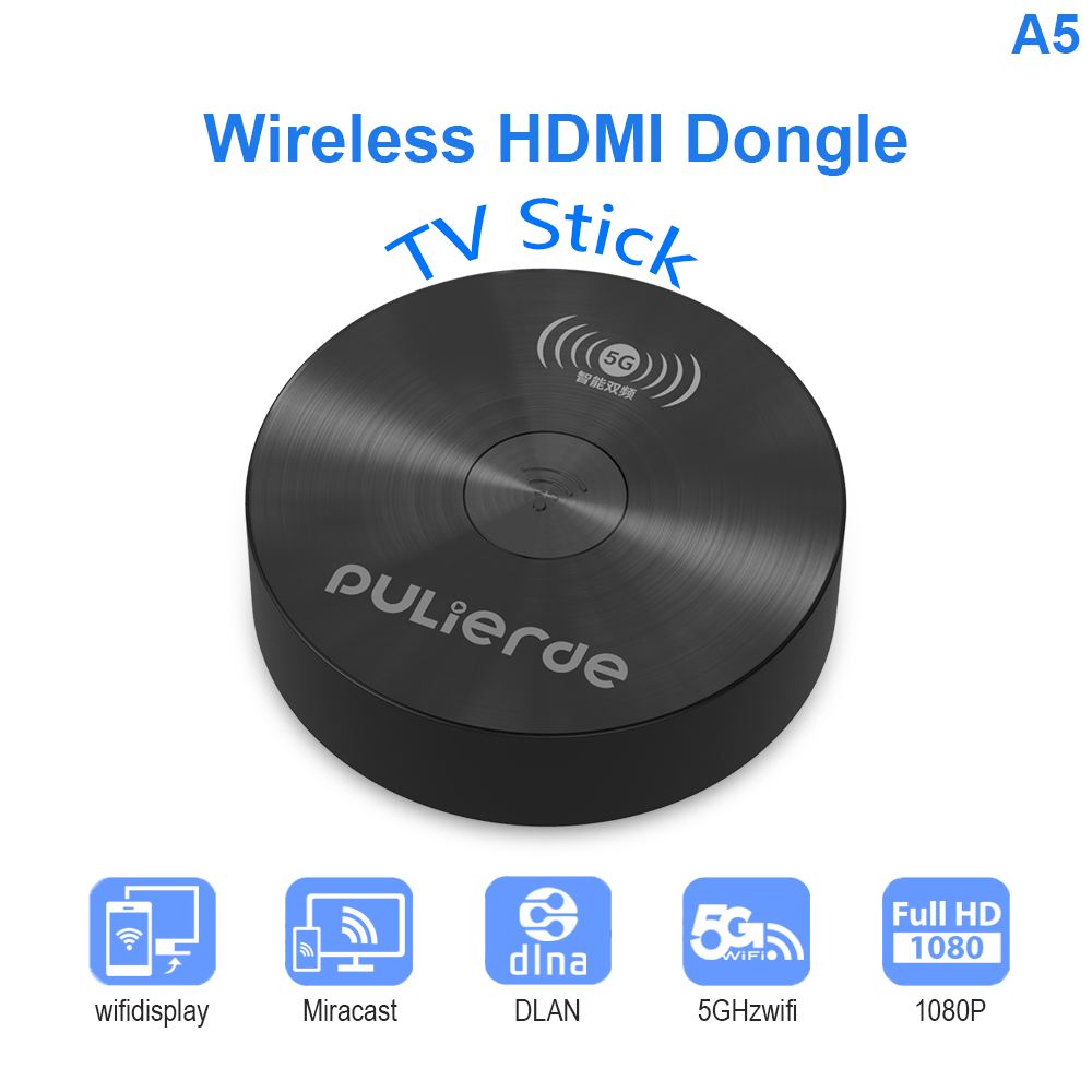 Wireless HDMI Dongle Miracast 1080P TV Stick Adapter HD Receiver   TV Stick For Android IOS Smartphone