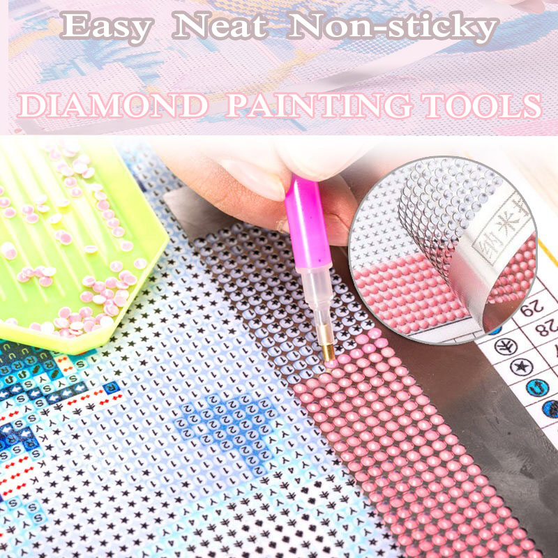 5D Diamond Painting Tool Diamond Drawing Ruler Dot Drill for Sewing Embroidery