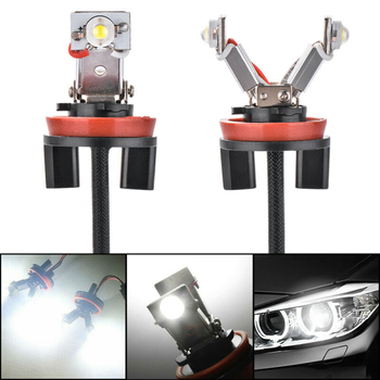 2pcs H8 Angel Eyes Light For BMW E60 E61 E71 E70 LCI E90 E91 X5 X6 Z4 E92 X1 DC12-24V White Light Car Angel Eye Bulbs image