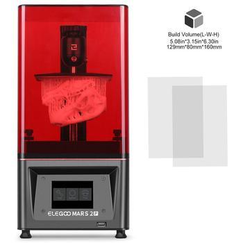 ELEGOO MARS 2 PRO Mono SLA  3D Printer UV Photocuring LCD 3D Printer with 6 inch 2K Monochrome LCD Printing Size 129x80x160mm 1