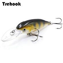 TREHOOK 11.5 グラム 10.5 センチメートル黒ミノー Wobblers フローティングクランクベイト人工ハード餌ジャークベイト
