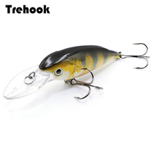 TREHOOK 11.5g 10.5cm Black Minnow Wobblers Fishing Lures Floating Crankbaits Fishing Tackle Lure Artificial Hard Bait Jerkbait