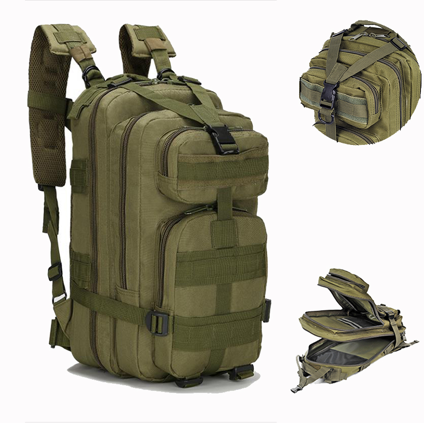 Men's 25L Military Tactical Backpack,Waterproof Molle Hiking Backpack,Sport Travel Army Bag,Outdoor Trekking Camping Backpack|Climbing Bags| - AliExpress