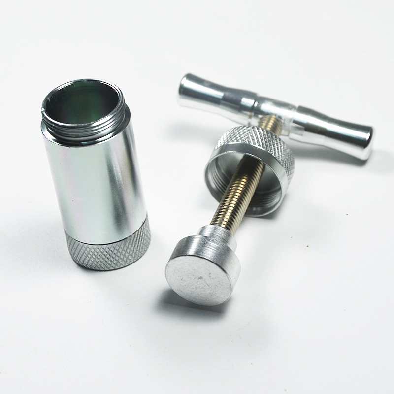 Aluminum Pollen Presser Compressor Press Spice Herb Grinder Tobacco Grinders Hand Crusher Accessories