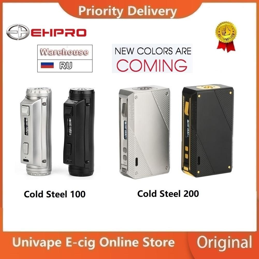 Hot Original Ehpro Cold Steel 100 Mod Vs Ehpro Cold Steel 200 Power By 18650 Battery Vape Vaporizer Vs Drag 2/ Gen Mod/ Shogun