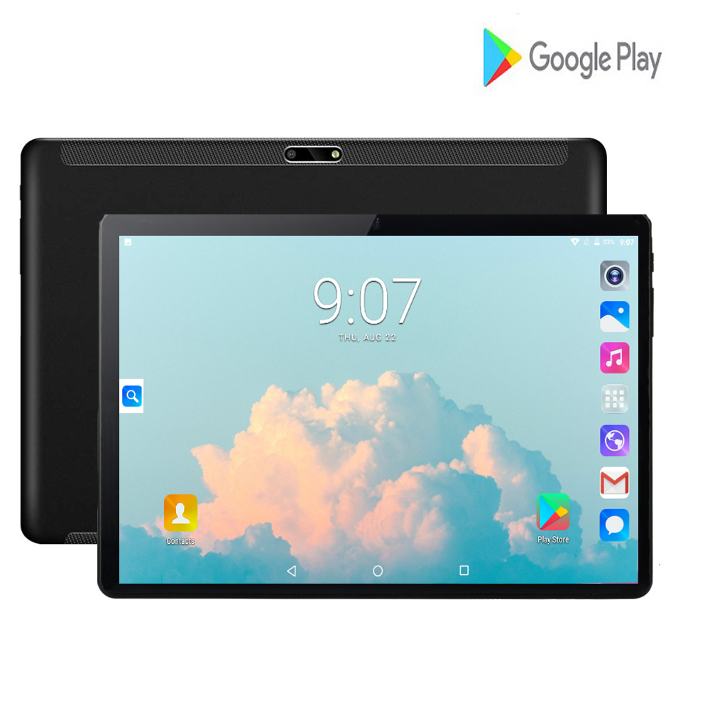 2020 Hot Android 7.0 OS 10 Inch Tablet PC Quad Core 2GB RAM 32GB ROM Dual SIM Cards Video Tablet 10.1 IPS 2.5D Tempered Glass
