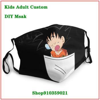 New Trendy mascarilla reutilizable Dragon Balll Baby Son Goku Pocket Saiyan masque tissus lavable Dustproof Mouth Mask