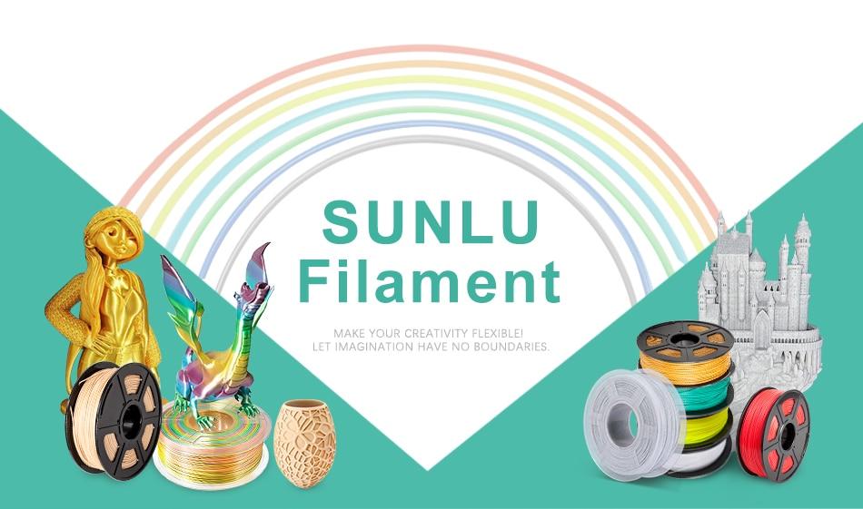 SUNLU 10x PLA and PLA PLUS Filament 1.75mm 3D Printer Dimensional Accuracy +/-0.02mm Bulk Pack