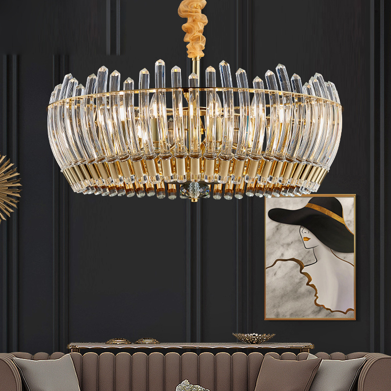 Post Modern Light Luxury Crystal Chandelier Creative Personality Living Room Dining Room Bedroom Study Simple Atmosphere