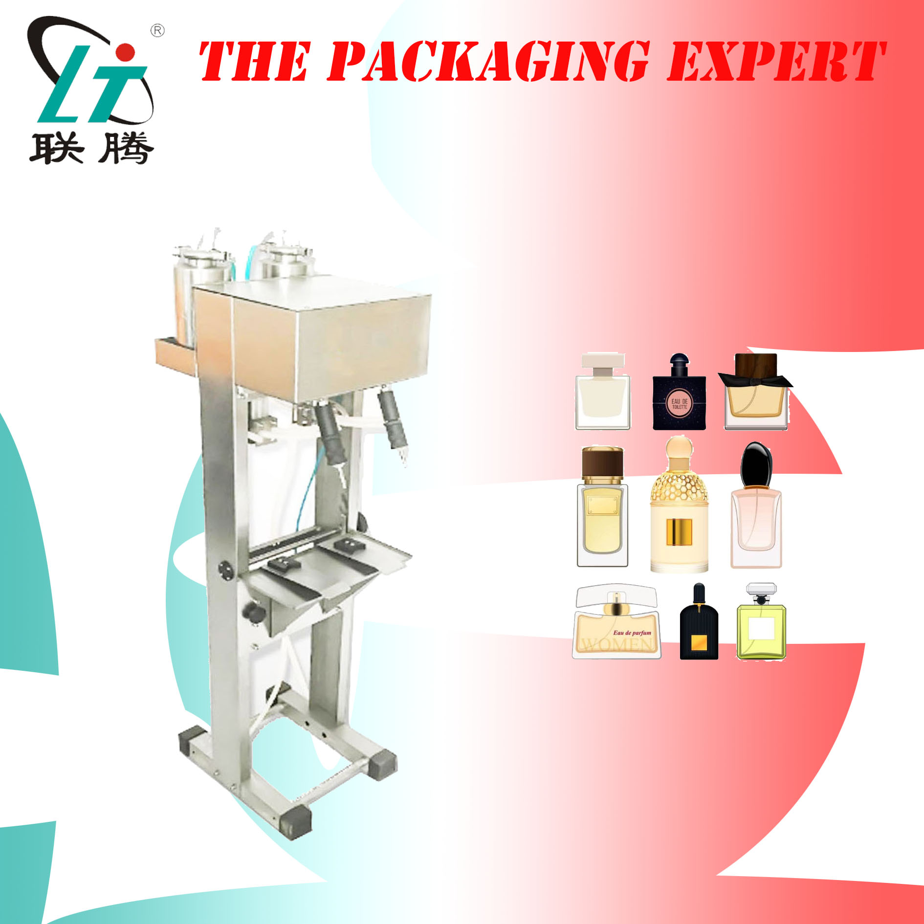 Perfume Fragrance Cologne Filling Machine Double Heads Toilet Water Filler Level Control Glass Bottles Free Shipping