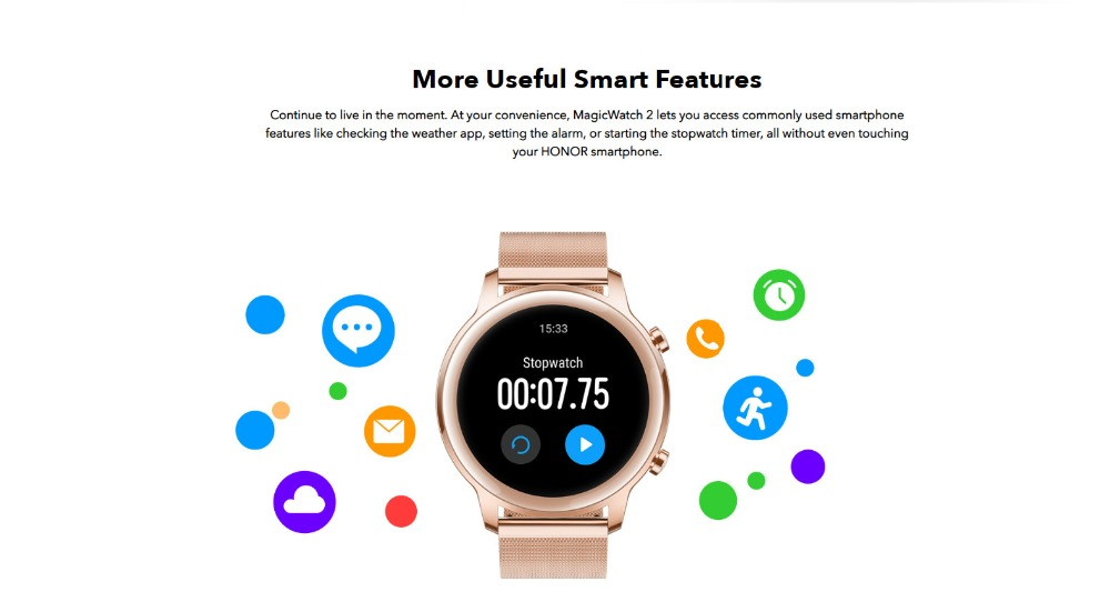 Huawei Honor MagicWatch 2 42mm Hebe Bluethooth Smart Watch 1.2AMOLED Always-on Display 14 Sports Modes 5ATM GPS Wireless Music 13