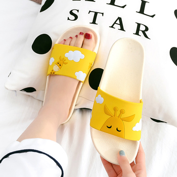 Summer Slides Cartoon Women Slippers Cute Animal Dog Sheep Home Slippers Slip on Slide Sandals Women Shoes Bothe Flip Flops 2