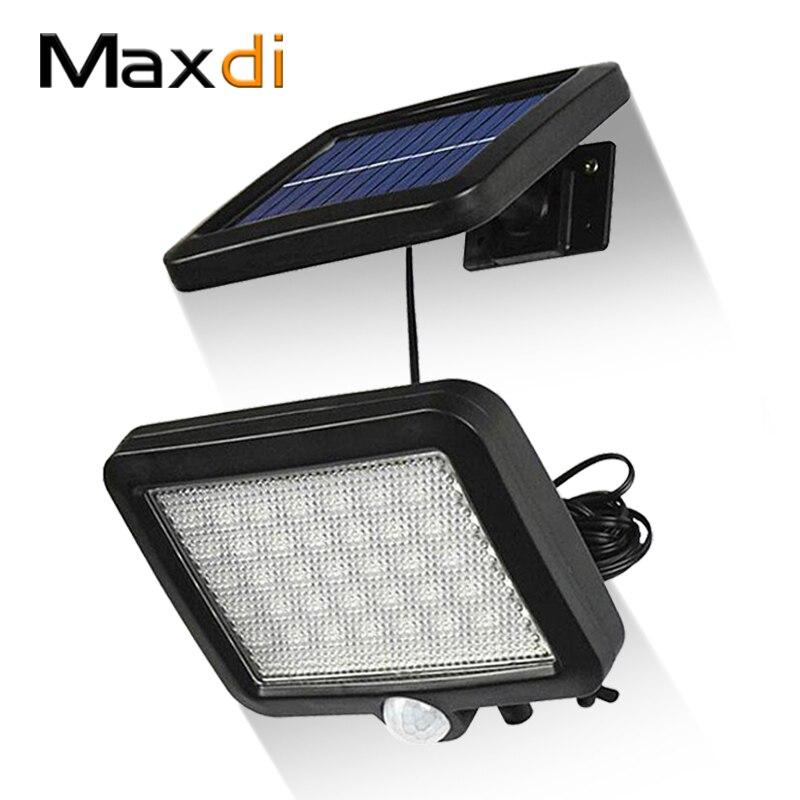 Maxdi LED Solar Light Outdoor Solar Light Human Body Motion Sensor Wall Light Waterproof Solar Garden Decoration Solar