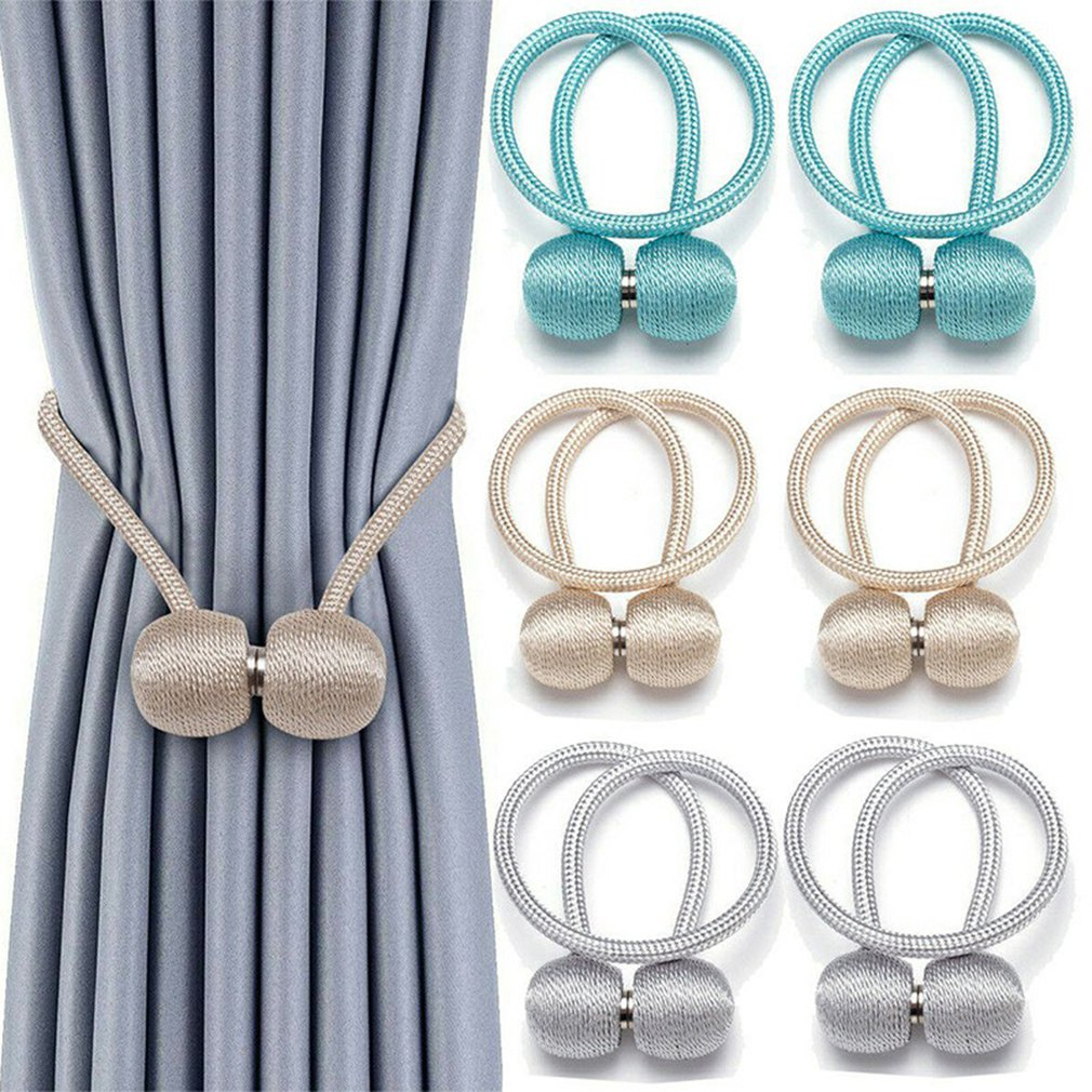 1x Pearl Magnetic Curtain Clip Curtain Holders Tieback Buckle Clips Curtain Ball