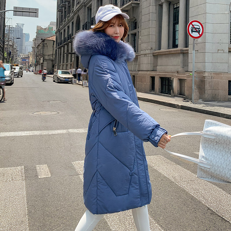 2019 New Winter Long   Parka   Women Coat Slim Thicken Warm Big Fur collar Overcoats Casual Female Outwear   parkas   Plus size