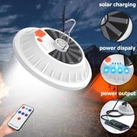 Tragbare Licht Camping Laterne Mit Fernbedienung Zelt Licht Notfall Wiederaufladbare LED Lampe Mobile Power Bank Solar Licht