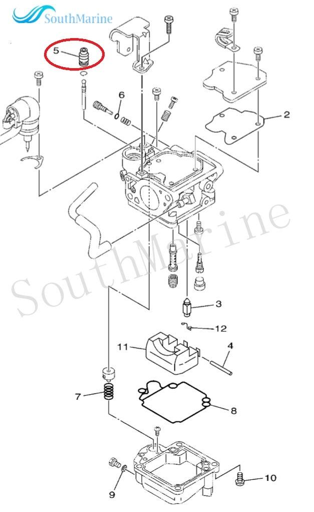 COVER, PLUNGER CAP 65W-14373-02-00 For Yamaha 4-stroke 25hp Outboard Motors F25 T25 F25D F25L F25S T25LA, Part No. 5