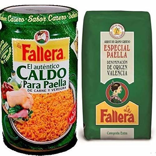 1kg Special Paella Rice La Fallera + 600ml. Meat And Vegetables Paella Broth