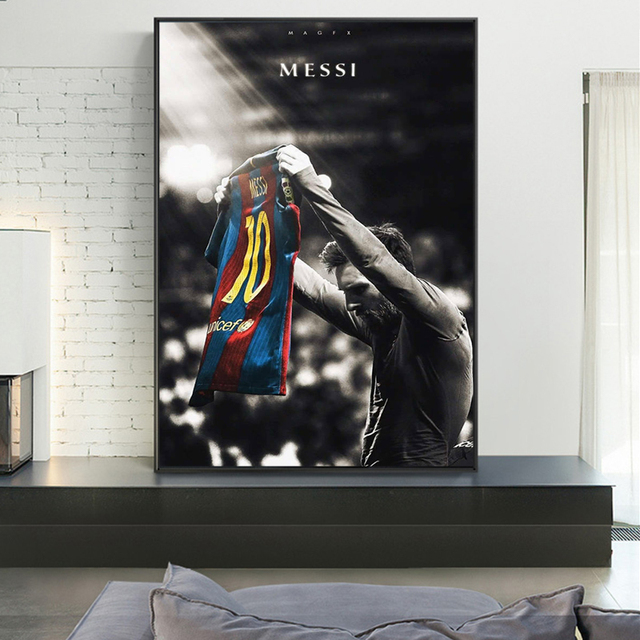 Football Sport Star Lionel Messi Retro Poster Prints Soccer Player Canvas Painting Room Wall Art Picture Home Decoration Cuadros 4