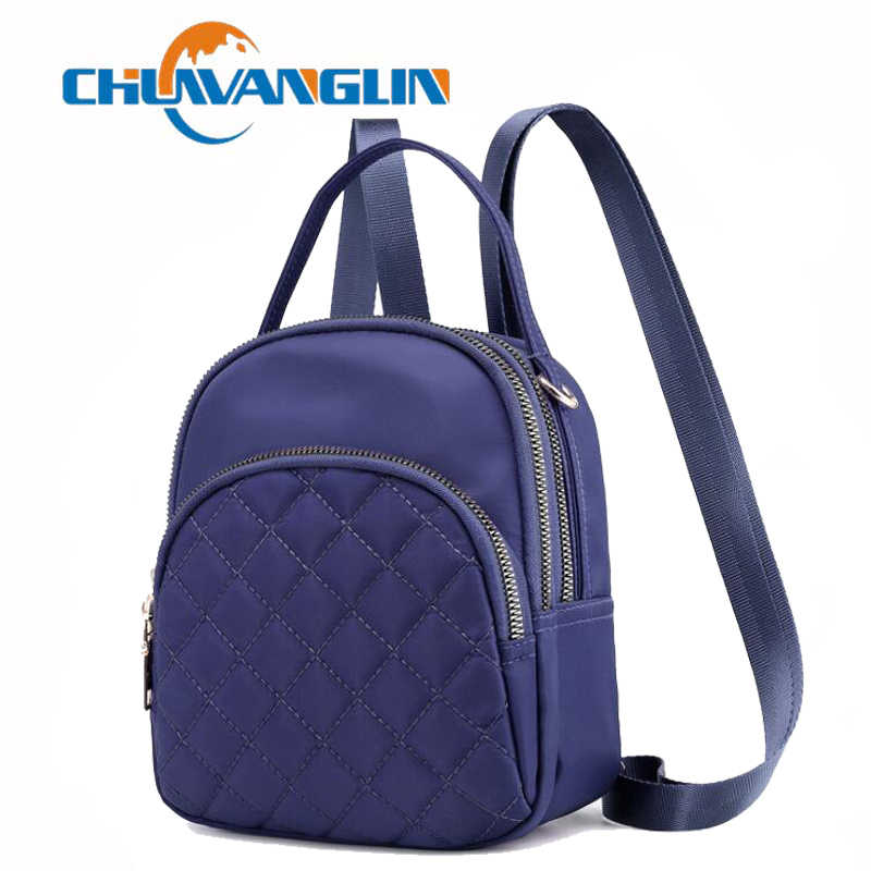 Chuwanglin mini backpack casual cute backpack nylon women Multifunction waterproof  small backpacks school bags mochila F5017