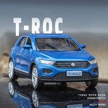 Бесплатная доставка Новый 1:36 T-ROC брелок для автомобильных ключей, модель игрушечные машинки Игрушечные Машинки Игрушки для детей, игрушки д...