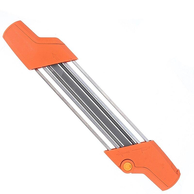 2 em 1 arquivo fácil serra de corrente apontador 3/8 p 4.0mm serra dentes conjunto rápido afiar com 2 pçs 5/32 Polegada arquivos apontador corrente