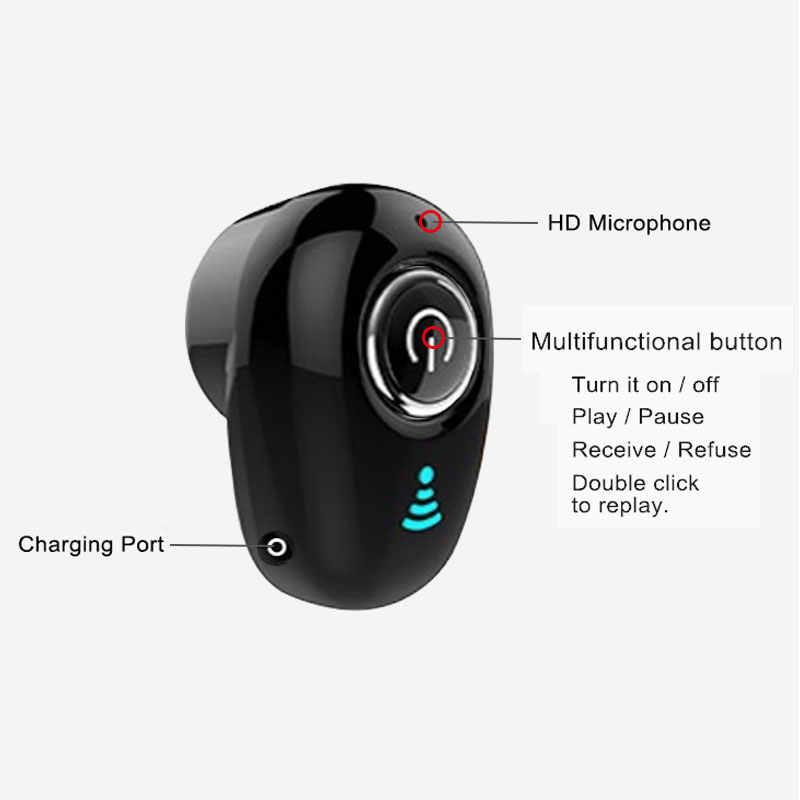 S650 מיני Bluetooth אוזניות אלחוטי באוזן Invisible Auriculares אוזניות דיבורית אוזניות סטריאו עם מיקרופון עבור iPhone xiaomi
