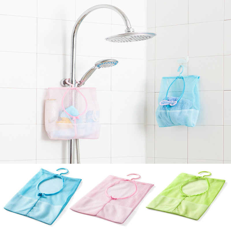 Bathroom Baby Toys Bag Multifunctional Hanging Storage Mesh Bags Baby Bath Toys Eco-Friendly Mesh Child Kids Bath Toys Baskets