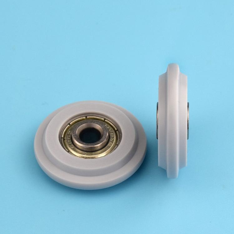 5pcs Covered Plastic Cam Wheel For Sliding Door Pulley Door Window Track Groove Wheel Guide Wheel Cam Convex Nylon Wheel