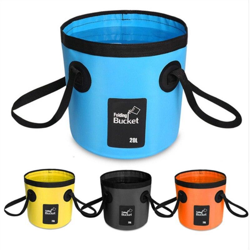 Clearance 12L/20L Folding Travel Bucket Wash Basin Car Wash Bag Multifunctional Portable Outdoor Camping Washbasin Basin Bucket