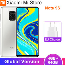 Versão global xiaomi redmi nota 9s 4gb 64gb smartphone snapdragon 720g 6.67
