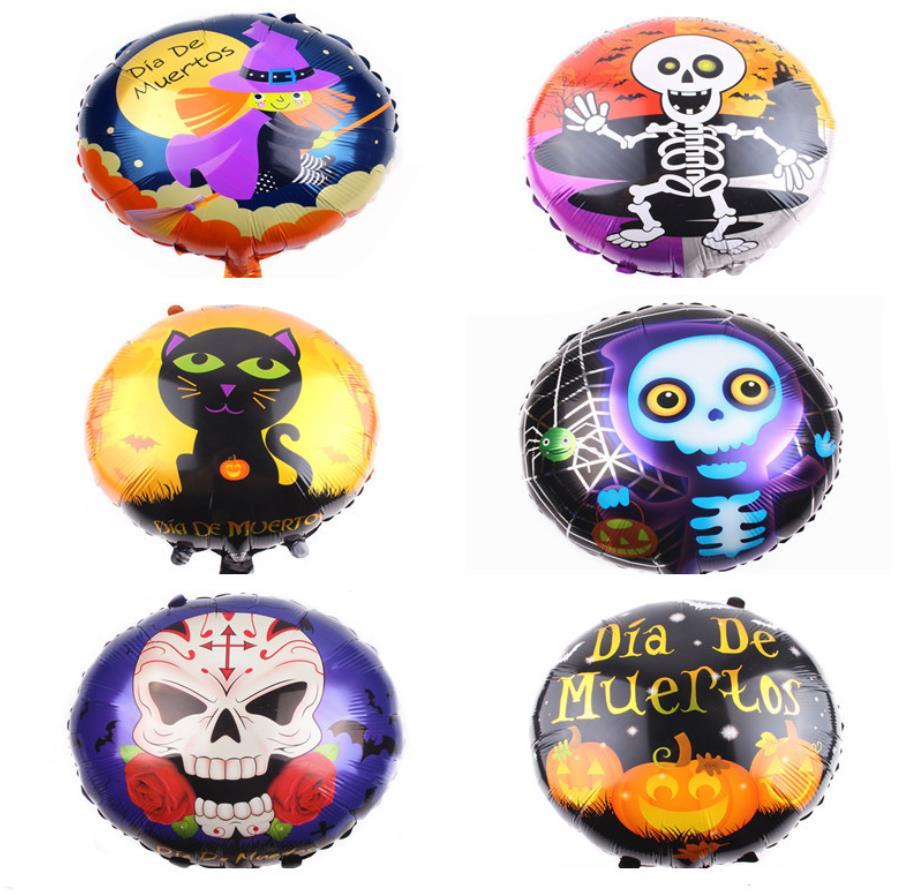 5pcs/lot Halloween Pumpkin Ghost Decor Foil Balloons Spider Helium Balloons Inflatable Toys For Kids Bat Cartoon Hat