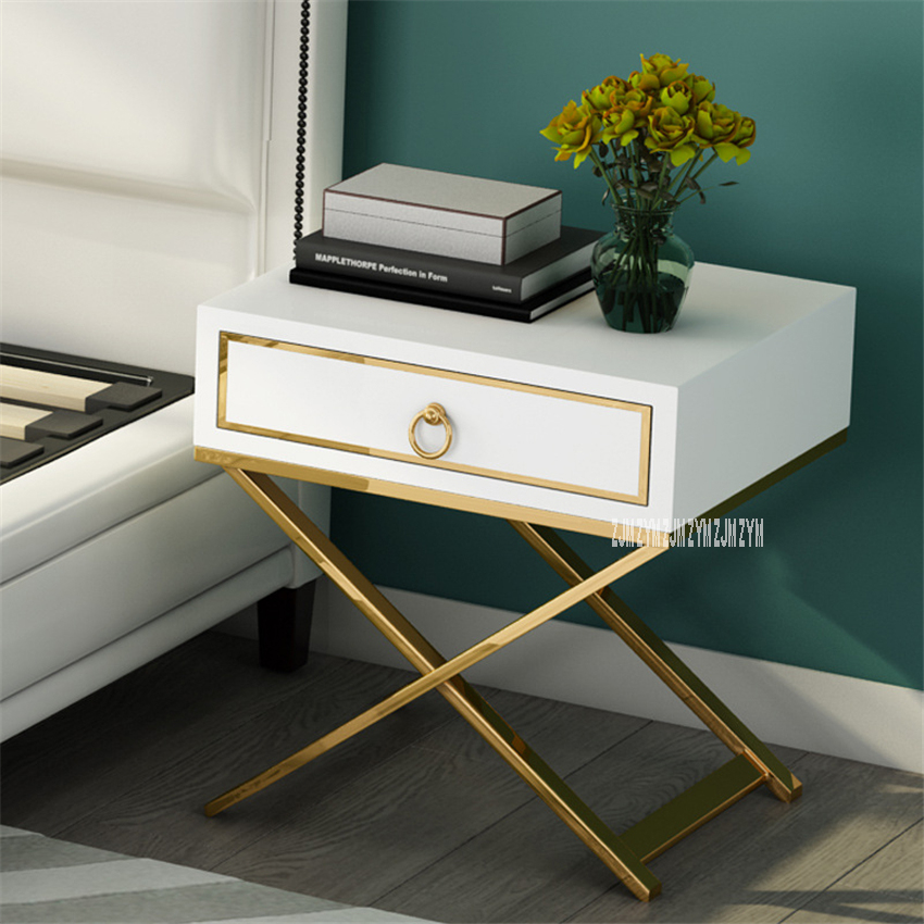 A06 Light Luxury Bedside Cupboard Simple Post-Modern Nightstand Storage Furniture Night Table Corner Cabinet Bedside Locker
