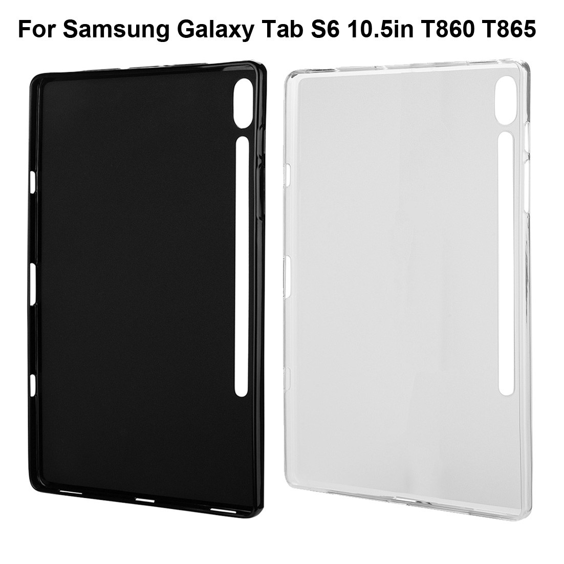 For Samsung Galaxy Tab S6 10.5in T860 T865 Soft Silicon Solid Clear TPU Shock-proof Case Cover tablet protective case for Sam s6 image