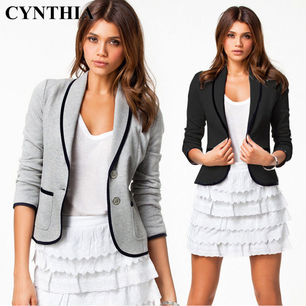 CYNTHIA 2020 Spring New Style Suit Long Sleeve Versatile Fashion Casual WOMEN'S Jacket Blazer Tops