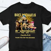 Bret michaels 36th anniversary 1985 2020 obrigado para as memórias t camisa