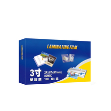 Laminating Pouches Size-Sheets for Cards 67x97-Mm 80mic Clear