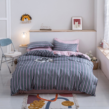 Pillowcase Bedding-Set Duvet-Cover Bed-Sheet Home-Textiles King-Queen Stripes Winter-Design