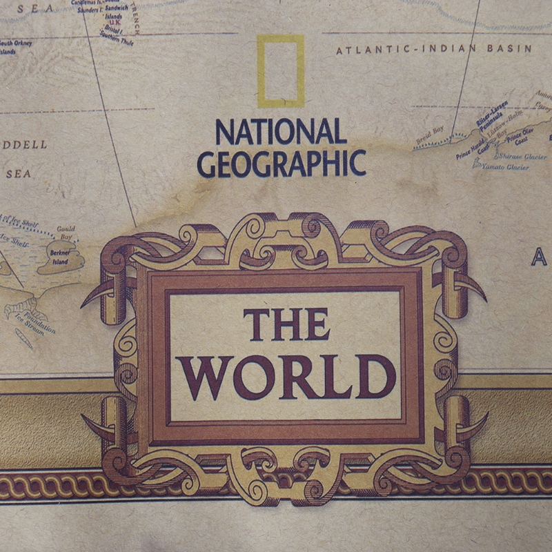 Vintage Retro Matte Kraft Paper World Map Antique Poster Wall Sticker Home Decor DXAC